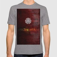 UNREAL PARTY 2012 AVENGERS IRON MAN FLYERS Mens Fitted Tee Athletic Grey SMALL