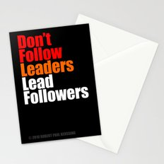 2010 - Don't Follow Leaders Lead Followers (Black) Stationery Cards