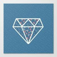 Pattern Diamond Red Brig… Canvas Print