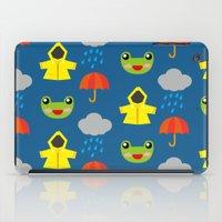 rainy days (Children's pattern) iPad Case