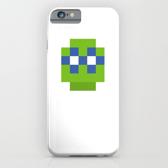 hero pixel green blue iPhone & iPod Case
