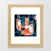 LEAFY BIRDS Framed Art Print