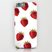 iPhone & iPod Case featuring Strawberries by Sian Roberts