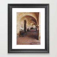 Old Spanish Architecture Framed Art Print