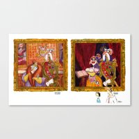 The General and His Wife AND The General and His Mistress Canvas Print