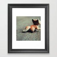 Fox Tail Framed Art Print