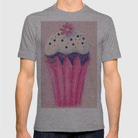 Cupcake Mens Fitted Tee Athletic Grey SMALL
