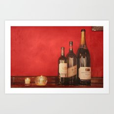 Wine on the Wall Art Print
