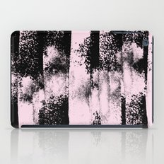 Pink Black Abstract texture  iPad Case