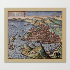 Map of Marseille 1575 Canvas Print