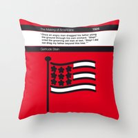 No033 MY The Making of Americans Book Icon poster Throw Pillow