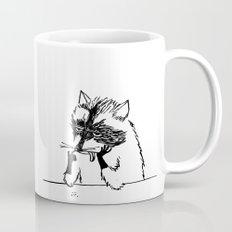 Bored Raccoon Cartoon Mug