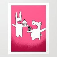 Camp Cupcake Art Print