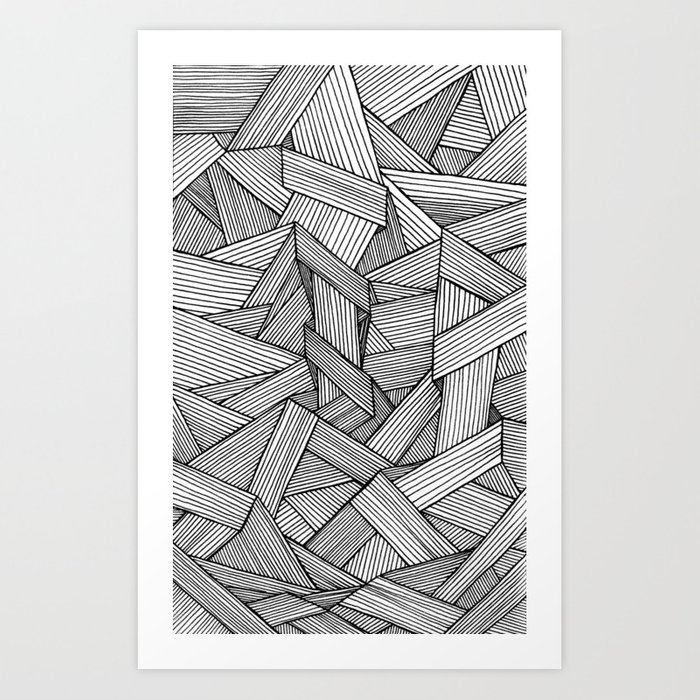 Straight Line Drawing Artist : Straight lines art print by david stanfield society