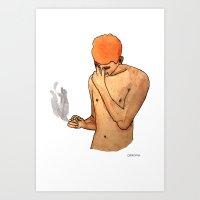 Sadness Smokes Art Print