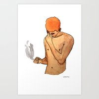 Sadness Smokes Art Print