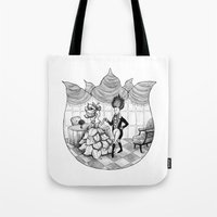 Floral Society Greeting Tote Bag
