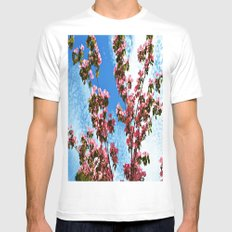 Sky/Flowers Mens Fitted Tee SMALL White