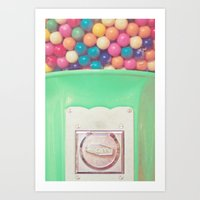 Happy Bubblegum Art Print
