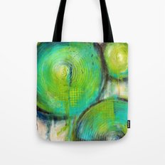 Firefly - Textured Abstract Painting Tote Bag