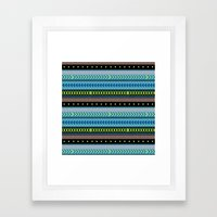 Together Again - tribal geometrics Framed Art Print