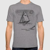message in a bottle Mens Fitted Tee Athletic Grey SMALL
