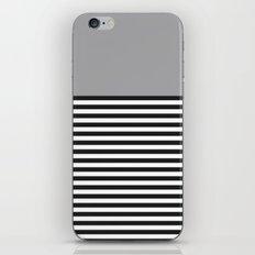 STRIPE COLORBLOCK {GRAY} iPhone & iPod Skin