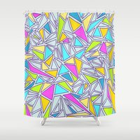 Abstract #001 Shower Curtain