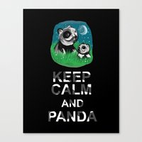 Keep Calm And Panda Canvas Print