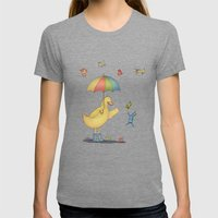 It's Raining Cats And Do… Womens Fitted Tee Tri-Grey SMALL