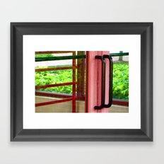 Licorice Door Framed Art Print