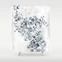 Broken and pixels  Shower Curtain