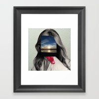 Crazy Woman - Lick me in the moonlight Framed Art Print