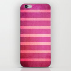 stripes (pink) iPhone & iPod Skin