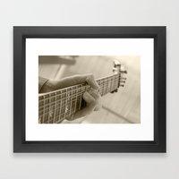 Play that guitar Framed Art Print