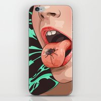 Fly and girl iPhone & iPod Skin