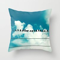 Throw Pillow featuring Birds by Sweet Moments Captured