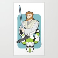 Obi-wan And Clone Troope… Art Print