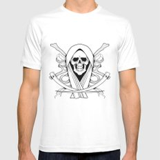 Death Mens Fitted Tee SMALL White