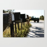 Country Mail  Canvas Print