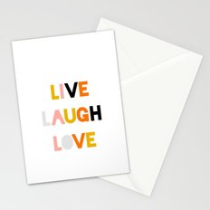 LIVE LAUGH LOVE Stationery Cards