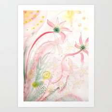 Summer flower meadow Art Print