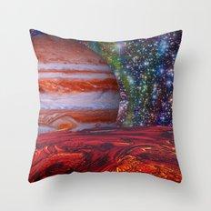 Looking At Jupiter Throw Pillow