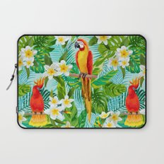 Tropical Parrot Chillin Laptop Sleeve