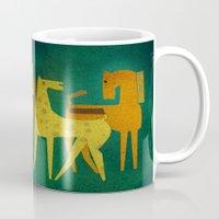 Ceramic With Horses Mug