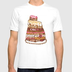 Pat A Cake White Mens Fitted Tee SMALL
