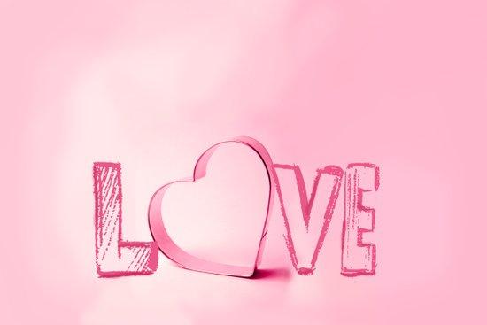 Love's Heart - Pink Art Print