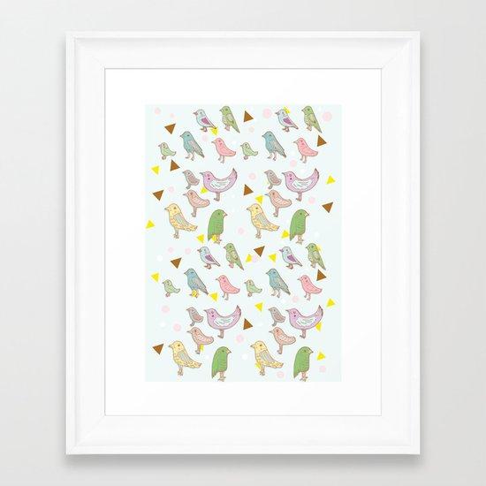 Bird Pattern Framed Art Print