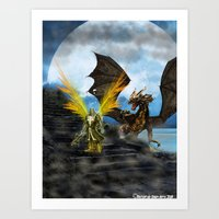 Art Print featuring Dragon Knight by Timothy DaRoma
