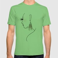 Feather Earrings - Modified Mens Fitted Tee Grass SMALL